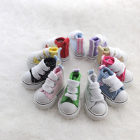 Free Shipping 5pairs/lot 4.5cm Plimsolls Canvas Shoes For Tangkou & monster high Dolls BJD Doll Accessory For Gifts & Promotion