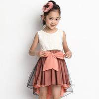 2014 new Korean children dress girls summer  large children 's clothes children vest dress swallowtail a generation of fat