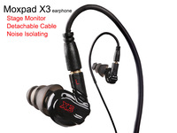 Original Moxpad X3 Monitor Earphone for phone tablet PC Pad MP3 MP4 MP5 with Microphone Isolating Noise Isolating and Cancelling