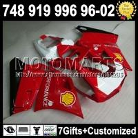 For DUCATI Stock red black 748 916 996 998 96-02 96 97 98 99 00 01 02 5K13  1996 1997 1998  2000 Gloss red 2001 2002 Fairing