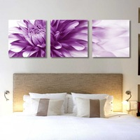 3 Panel modern wall art home decoration frameless oil painting canvas prints pictures P56 abstract purple flower paintings
