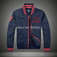 2014 new luxury Men's classic winter man casual jacket brand Polo jackets zipper windproof polo's Formal men Jacket casaco coats