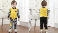 4set/lot wholesale long sleeve jacket striped pant kids clothes 2pcs/set,boy's clothing ,spring autumn child sets