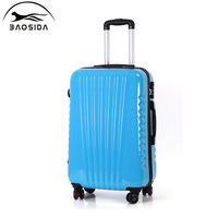 Box travel bag fashion trolley luggage osdy universal wheels,20 24 inch trolley luggage bags,pink,yellow,blue,green luggage