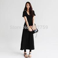 2014 female casual fashion short-sleeve spring one-piece dress full dress slim hip  slim