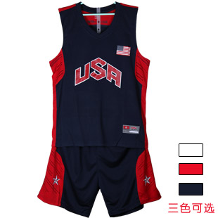 NEW 2014 brand outdoor Usa american basketball clothing set male basketball clothing practice competition clothing jersey(China (Mainland))