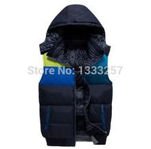 New Brand Men Warm Winter Waistcoat Men's  Down cotton Vest Jacket Thick Winter Sleeveless Coat For Man Down cotton Vest(China (Mainland))