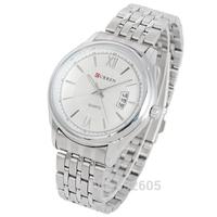 Luxury Brand CURREN 8092 Mens Sliver Full Steel Quartz Dress Watches Male Fashion Casual Watch Clock With Calendar Wristwatches