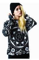 Hot sale 1pcs men and women's loose black hoodies Europe and America style long sleeve fashion couple pullovers sweatshirts