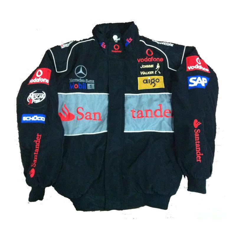 free shipping Road racing F1 JACKET NASCAR black racing jackets men's coat outerwear waterproof(China (Mainland))