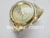 Hot famous brands Japan Quartz Men Women gold watches Luxury Rhinestone decoration dial Relojes band dress relogio masculino