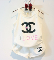 Retail  fashion baby summer clothing set, Children's CC suits.clothing set,girls set,girls suit,children's clothing