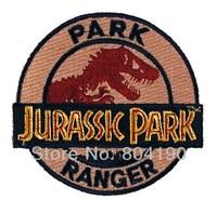 Jurassic Park Ranger TV MOVIE Series Uniform punk rockabilly applique sew on/ iron on patch Wholesale Free Shipping