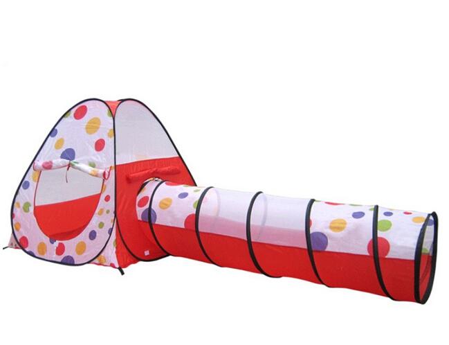 Pop up de bebê e crianças brincam tenda coberta ao ar livre Pop up Tent & túnel Combo Set(China (Mainland))