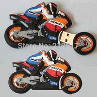 Drop shipping + Free shipping!!! Hotsale 8gb motorcycle Usb flash drive novelty deisgn flash memory stick pendrive