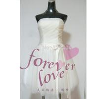 Skirt bow design short formal dress bridesmaid dress bridesmaid dress