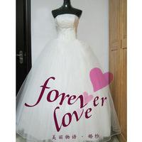 The bride wedding dress fish bone paillette wedding dress sew-on wedding bandage wedding dress yarn