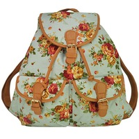Fashion canvas backpack for women classic retro casual floral backpacks free shipping
