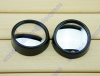 2 Car Rearview Blind Spot Mirror Side Rear View Convex Adjustable Round Black Free Shipping