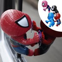 16CM Spider ManToy Climbing Spiderman Window Sucker Spider-Man Doll Car Home Interior Decoration 4 color 2X HM141-4