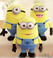 "Wholesale - HOT SALE Despicable me Yellow people Plush toys three kinds of 3 d eyes expression7 "" doll series"