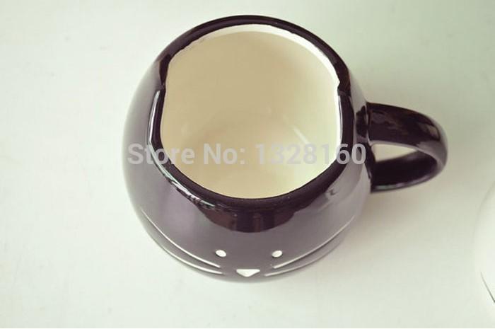 Zakka Lotion Coffee Cup Black And White Cat Animal Milk Cup Ceramic Lovers Mug Cute Drinkware wholesale(China (Mainland))