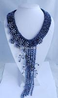 F00187HOTSALE!!!Fashion New Design Freshwater pearl Beads Jewelry Set Handmade African Beads Jewelry Set