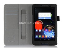 """2014 Hot Selling Original 7"""" Folio PU Leather Stand Case For Lenovo A3500 With Handstrap & Card Holder, Free Shipping"""