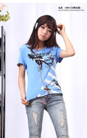 2014 new summer  women men clothing anime Kagerou Project Enomoto Takane Cosplay costume blue o-neck Cotton t-shirt