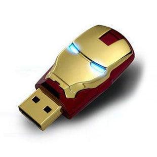 1pcs New For Avengers Iron Man LED pen drive usb flash drive 64GB pendrive memory card pendrives free shipping from XinRui(China (Mainland))