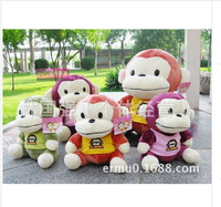 37cm Genuine mouth monkey plush toy doll dressing tricolor monkey doll birthday holiday gift to send children to send to friends
