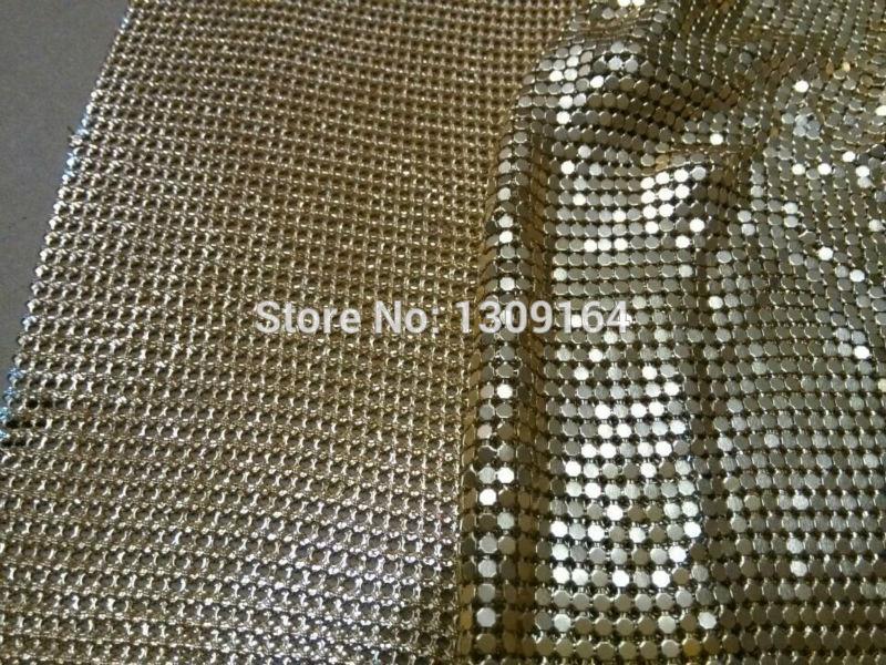 Free shipping 4MM Aluminium mesh fabric brass mesh fabric. 45*150CM gold color on stock wholesale free shipping(China (Mainland))
