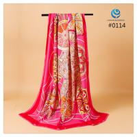 2014 Big Size 140x140cm Fashion Brand Silk Square Scarf Women   Silk Satin Scarves silk Shawl  Print High Quality #011