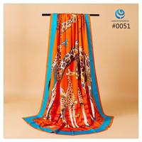 2014 Big Size 140x140cm Silk Square Scarf Women Fashion Brand High Quality Silk Satin Scarves silk Shawl Hijab Print #005