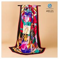 2014 Big Size 140x140cm Fashion Brand Silk Square Scarf Women   Silk Satin Scarves silk Shawl  Print High Quality #012
