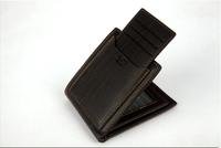 New promotion 2015 fashion carteras men leather short small solid wallets designer purse carteira masculina billetera hombre 50
