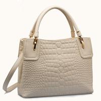 HOT Brand women genuine leather handbag 2014 new Crocodile natural leather shoulder messenger bag totes