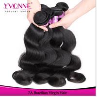 3Pcs/lot Grade 7A Brazilian Body Wave Virgin Hair,100% Remy Human Hair Weave,Hair Color 1B,12~28Inches Aliexpress Yvonne Hair