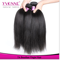 Grade 7A Brazilian Straight Hair,3Pcs/lot Unprocessed Brazilian Virgin Hair,100% Human Hair,12-28Inches Aliexpress Yvonne Hair