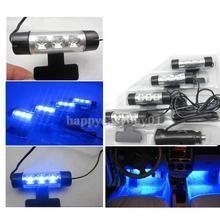 Car Interior Pleasant Adjustable LED Foot Well Neon Flash Lights LG5D(China (Mainland))