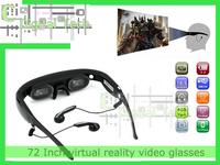72 Inch virtual reality video glasses eyewear virtual screen wireless video glasses  + DHL FEE SHIPPING  fast free shipping