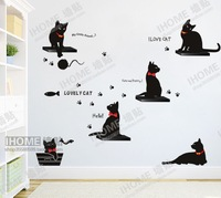 33x60cm Lovely Black Cats Home Decor Art Mural Kids Room Nursery Wall STICKER