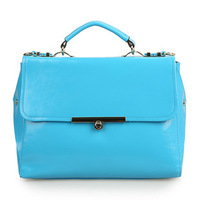 new wave of female leather wrinkled face twist lock bag Korean fashion leather handbags  Mobile Messenger 30*21*12cm NBC115 Y8PB