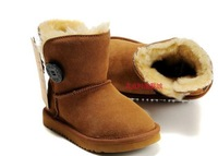 Australia brand Snow boots boy/girl real cowhide boots, waterp roof warm children's boots