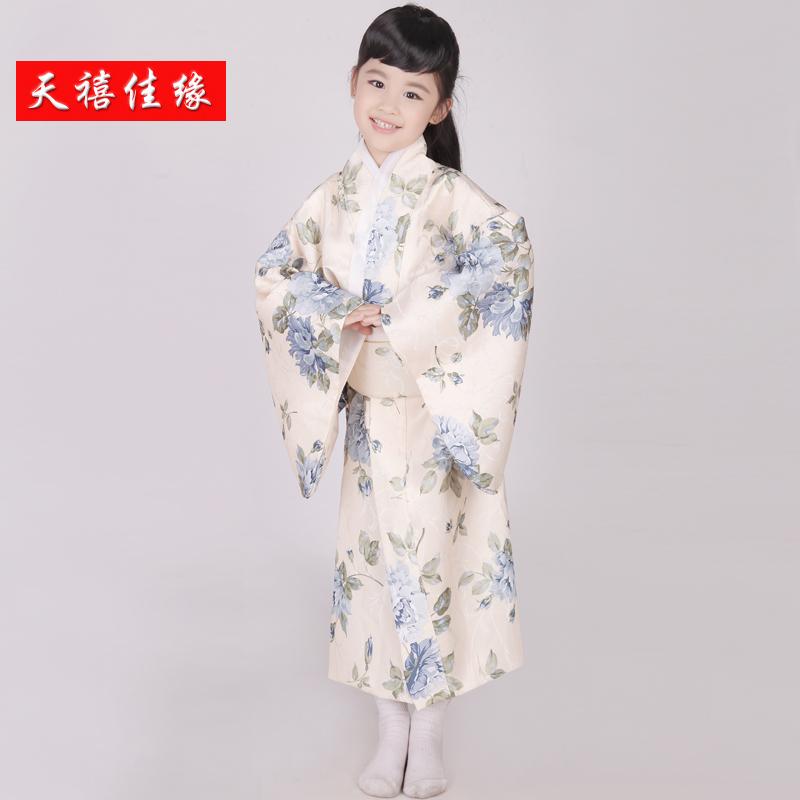 New fashion child japanese kimono costume free shipping kimono dress traditional japanese(China (Mainland))