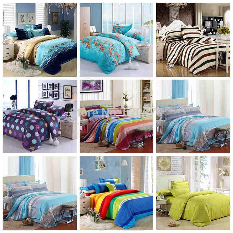20 estilos Promoção Frete Grátis 2014 novo conjunto de cama de algodão Chegada 4pcs / 3pcs ajuste cama fronha duvet folha de rosto(China (Mainland))