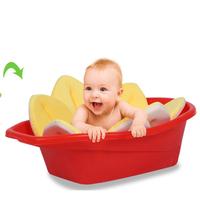 Blooming Bath Baby Bath ,BLOOMING SINK BATH FOR BABIES BLUE INFANT FLOWER CUSHION
