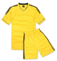 Breathable sweat absorbing paintless soccer jersey set football clothing team soccer jersey short-sleeve football training