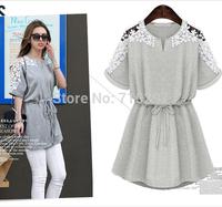 2014 fashion women big size plus size summer dress hollow out casual dresses XXXL XXXXL XXXXXL bust 130