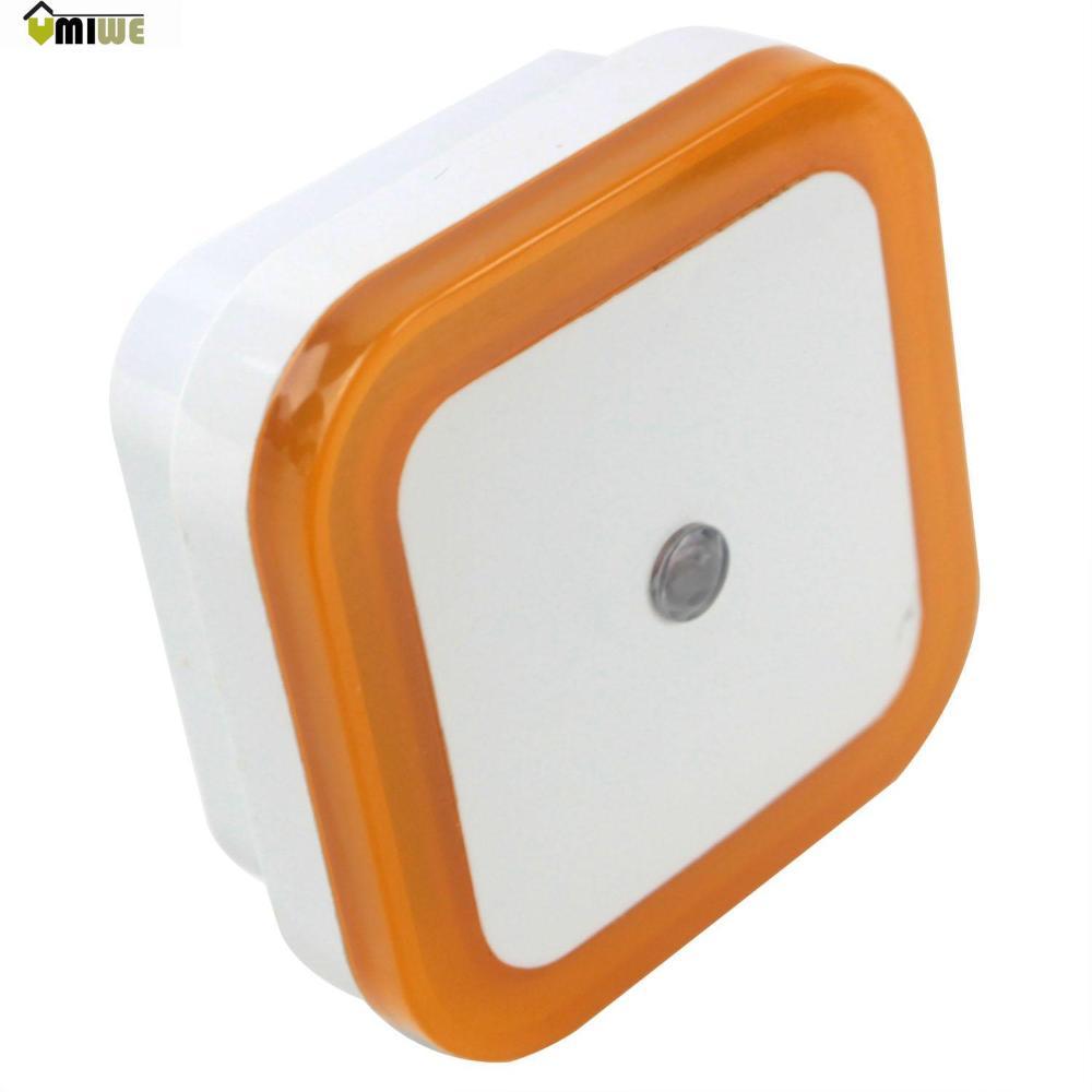 Umiwe Nursery Energy Saving 90-260V Light Sensor Control Night Lights (US Plug,White and Yellow)(China (Mainland))